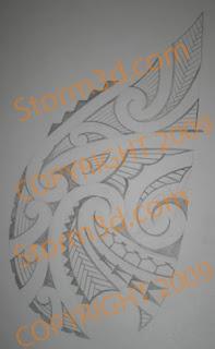 chest tattoo design maori style