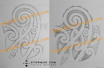 half sleeve shoulder tatou maori