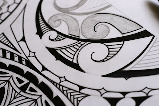 how to draw a maori tattoo design