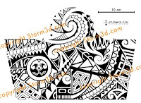 polynesian tribal sleeve design shoulder