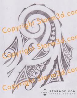 Shoulder tattoo mauri style