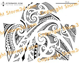 youtube maori tattoo shoulder design hand drawn
