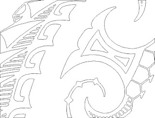 maori tattoo linedrawing high resolution image