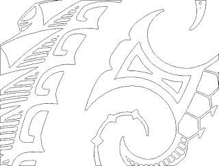 maori tattoo linedrawing high resolution image