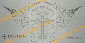 upper back sketch tattoos for sale