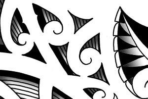 maori forearm tattoo pattern stencil