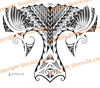 Samoan Maori Leg Tattoo Flash Designs For Sale
