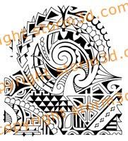 Polynesian Dwayne Johnson style tattoo design