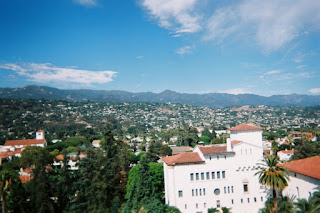 View from the Santa Barbara County Courthouse's tower
