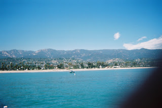 Santa Barbara's beach, view from Stearns Wharf
