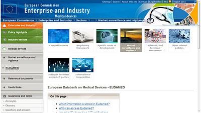 Eudamed : banque de données européenne sur les dispositifs médicaux