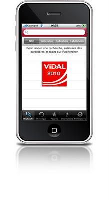 application vidal 2010 sur iphone