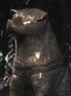 statue of hachiko, shibuya station, tokyo, japan