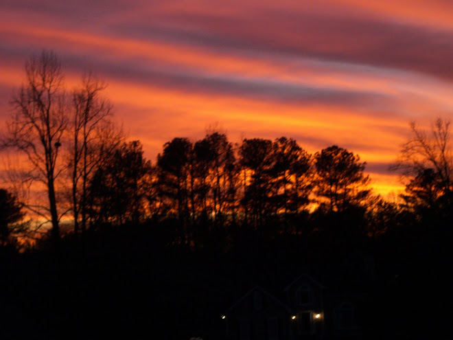 Amazing Sunset From My Front Porch