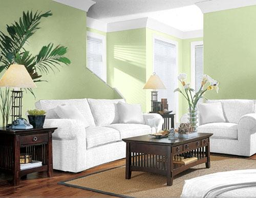 Green Color Paint Living Room Ideas (7 Image)