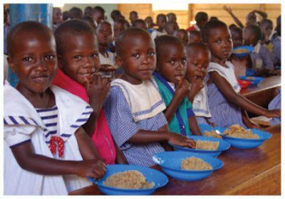 The hungry children in Africa