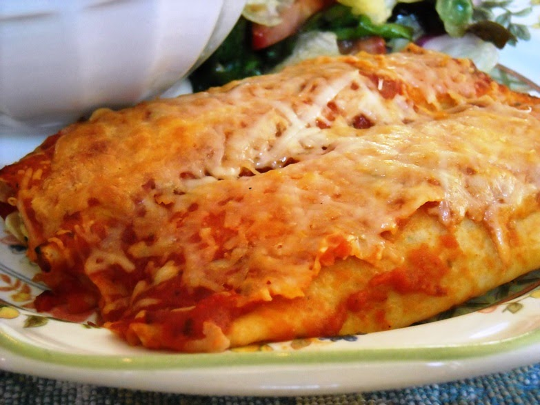 "Diabetics Rejoice!: Spinach and Mushroom ""Manicotti"" Crepes"