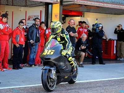 Valentino Rossi with Ducati 2011