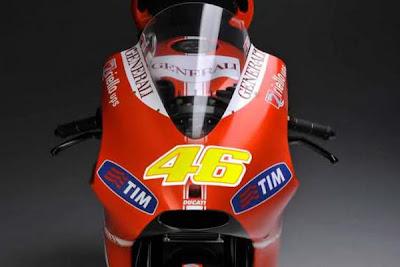 Valentino Rossi with Fiat Ducati