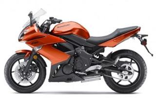 2011 Kawasaki Ninja 650R orange colors