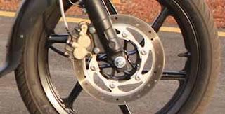 Bajaj Pulsar 220 disk brakes