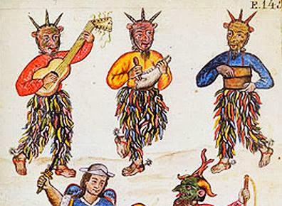 Danza de Diablicos - Codice Trujillo del Perú (detalle) - lám. 145