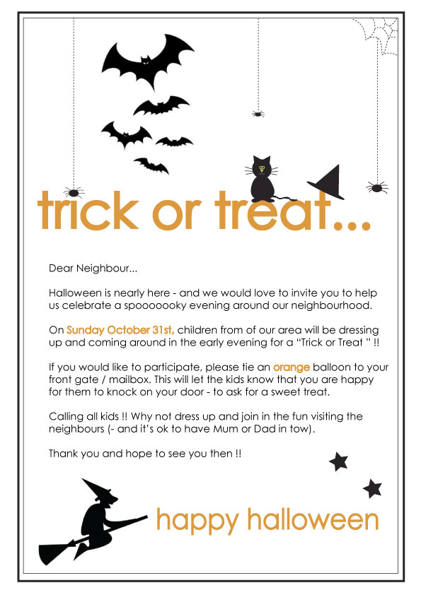 Sambellinas party simple stylish partyware and stationery free free halloween printable neighbours note spiritdancerdesigns Image collections