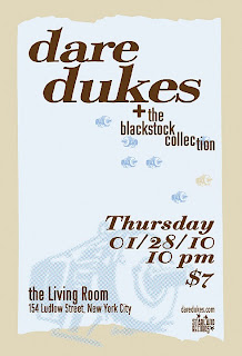 Dare Dukes + teh Blackstock Collection Play the Living Room on Thursday, Jan. 28th