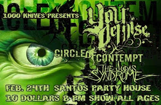 Your Demise Plays First NYC Show at Santos House Party on Feb. 24th (Earache)