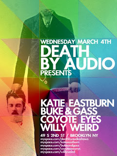 Coyote Eyes Plays Death by Audio on Wednesday, March 4th
