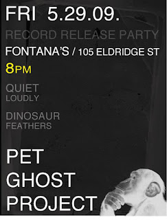 Pet Ghost Project Release Two New EPs; Record Release Show at Fontana's on May 29th