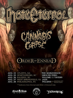 Order of Ennead Announce a Limited Run of Shows with Hate Eternal and Cannabis Corpse