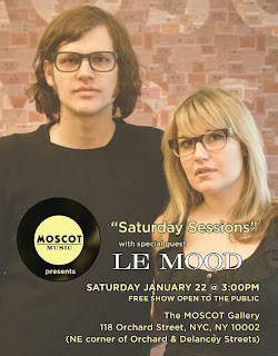 Le MOOD: Brooklyn Garage Rock Band Plays Free Show at MOSCOT's Saturday Sessions on Jan 22nd