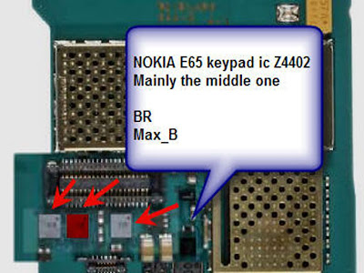 Nokia E65. Trik Jumper Keypad,LCD,Lampu,Off Line,White screen Dll