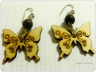 mariposas en madera
