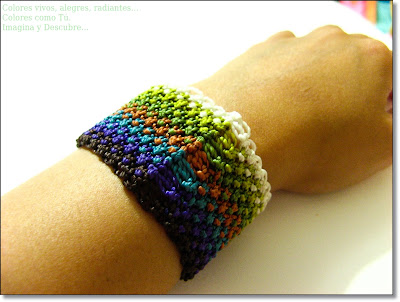 pulsera macrame multicolor