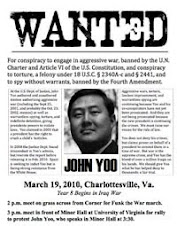 Protest Call: Indict John Yoo, A War Criminal