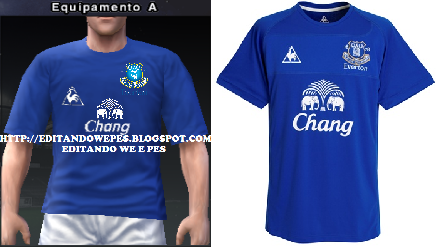 Editando WE e PES  Uniforme Everton PES 2010 e 2011 d766719ed3144