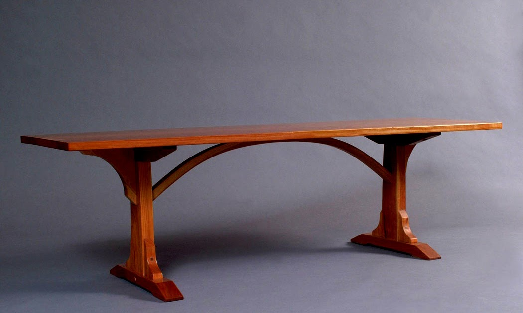 Cold River Furniture Arch Table Coffee Table Size