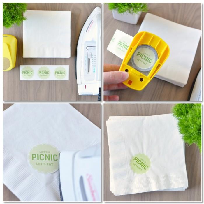 diy custom paper napkins