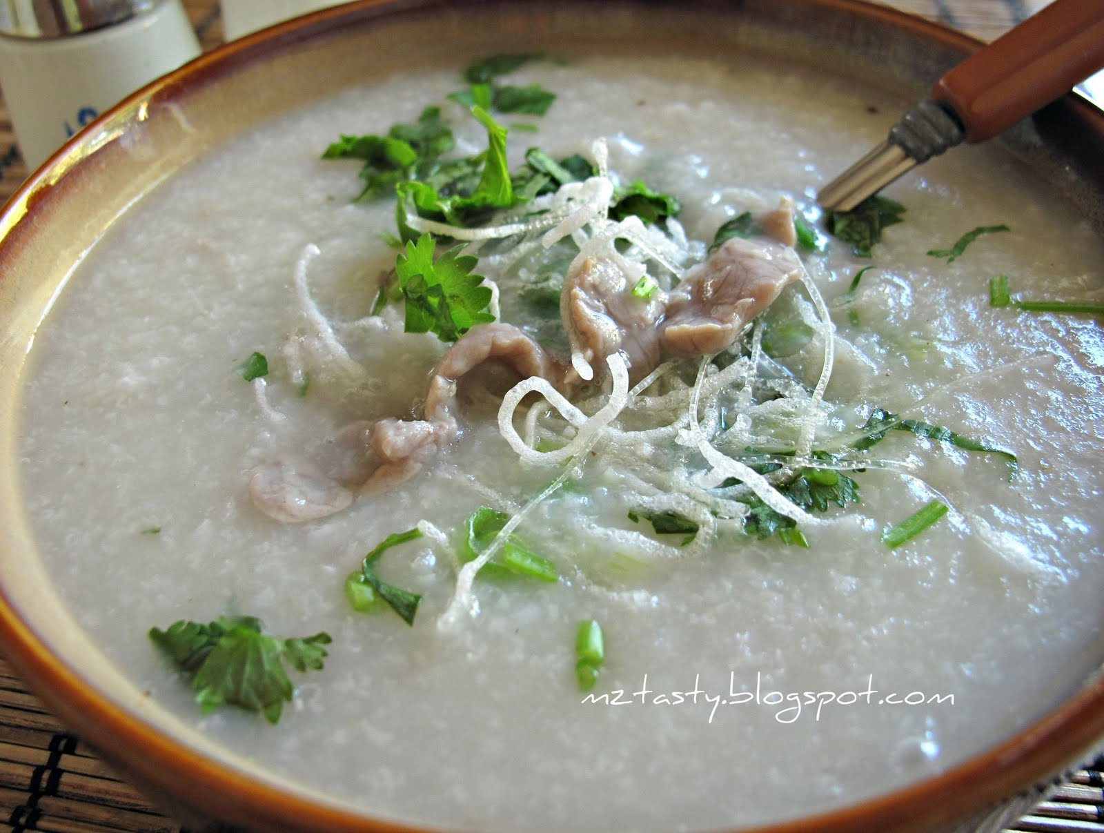 MzTasty's Kitchen, Savor The Flavor: Beef Porridge/Congee