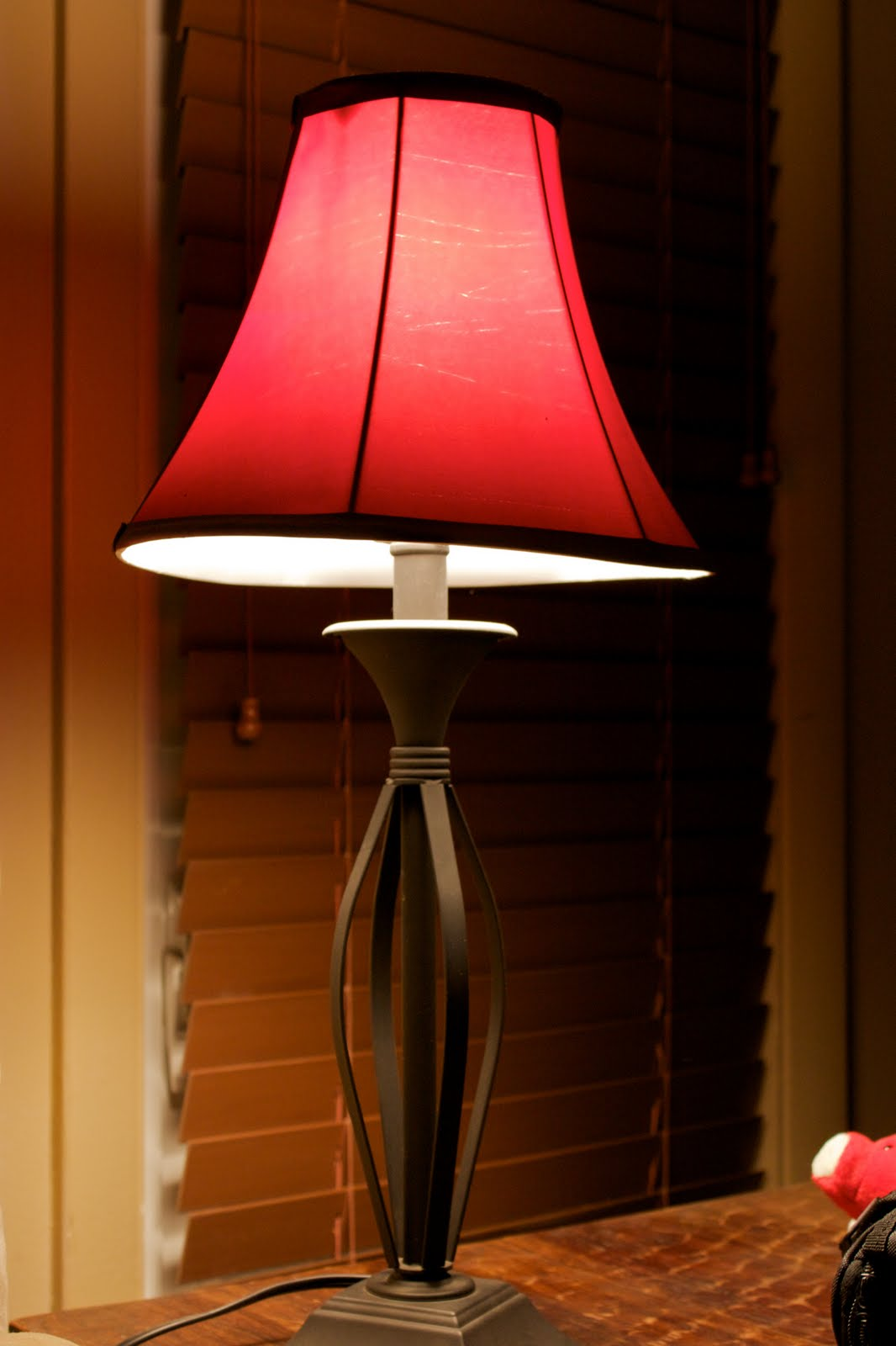this is a floor lamp that sits next to the couch in the office area. Black Bedroom Furniture Sets. Home Design Ideas