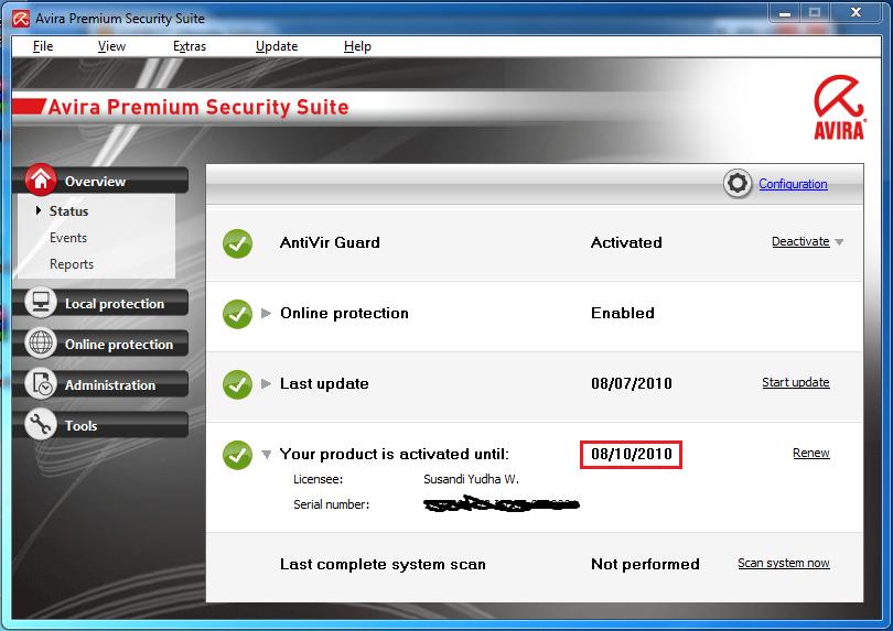 Avira premium security suite 8 fresh key 2017 startimes