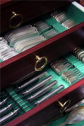 Colecci n magdalena de cueva cubiertos de plata juego 2 for Cubiertos de plata precio