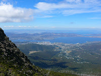 View of Hobart and beyond from the Zigzag Track, Mt Wellington - 2nd March 2008
