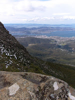 View over Hobart from the ZigZag Track, Mt Wellington - 13th September 2008
