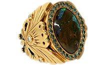 Опал, кольцо, драгоценность