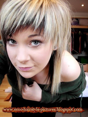 cool blonde emo haircuts