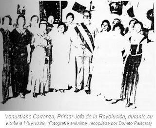 Venustiano Carranza durante su visita a Reynosa
