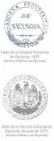 Sellos Aduana 1855 y 1870